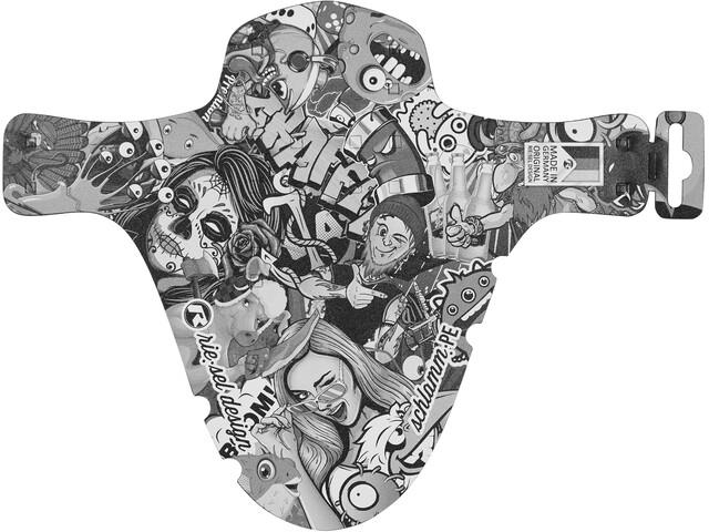 "Riesel Design schlamm:PE Pare-boue avant 26-29"", stickerbomb ultra black"